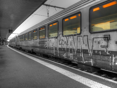 Train en gare de Dijon